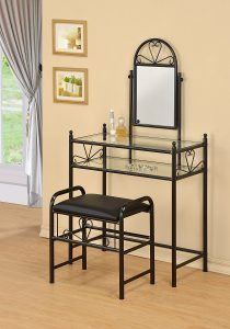 3 Piece Vanity Dresser Table and Stool Set