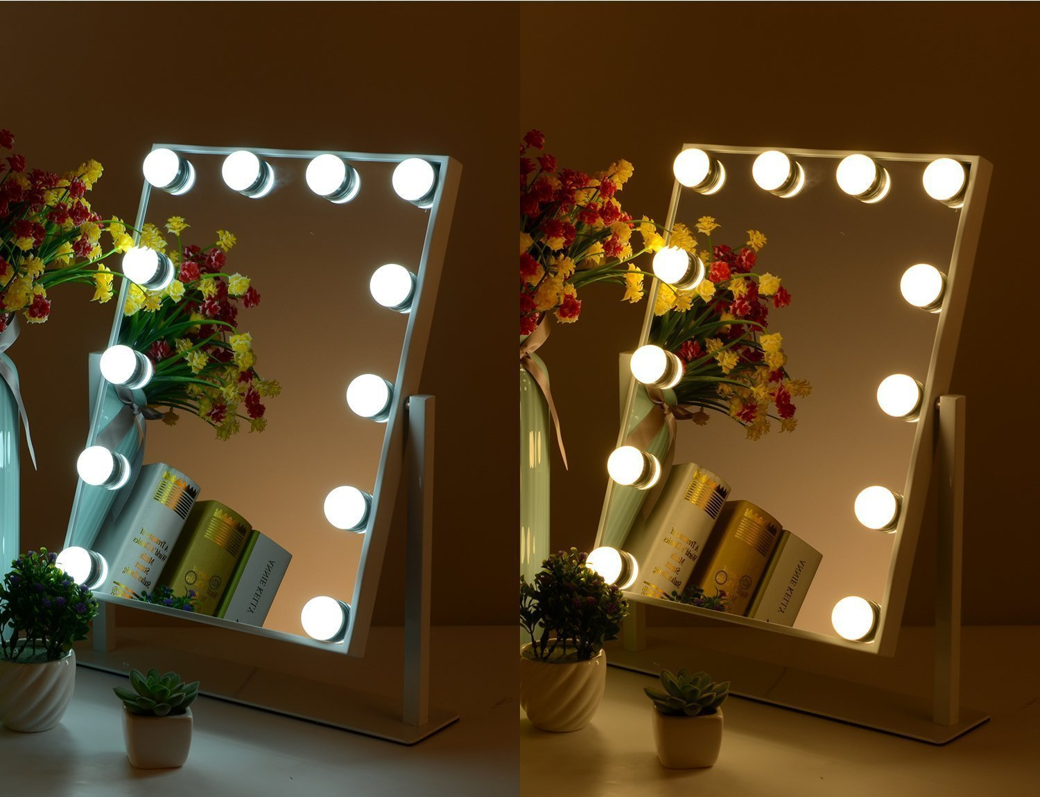 Makeup Vanity Mirror With Lighted Bulbs