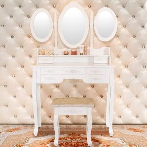 Tri Mirror Vantiy Makeup Table Set