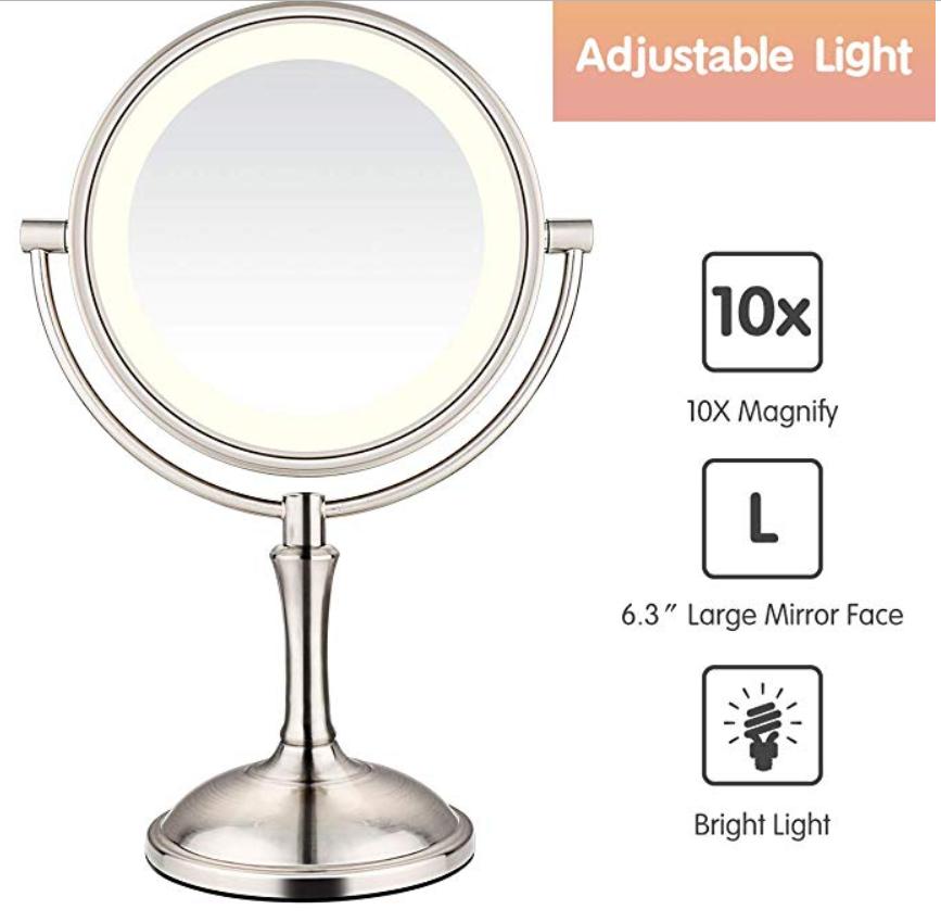 Amnoamno magnifying mirror
