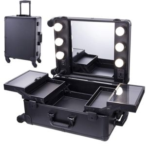 chende black makeup case