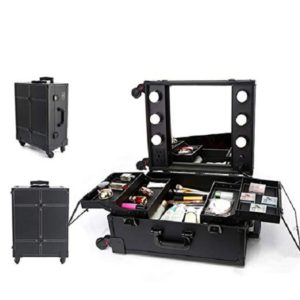 makeup case with mirror and lights