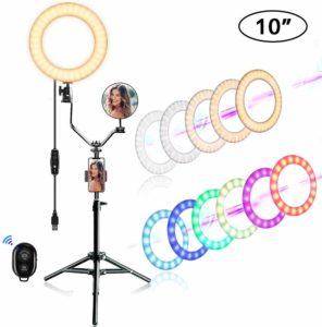 """EEIEER 10"""" RGB Ring Lights"""