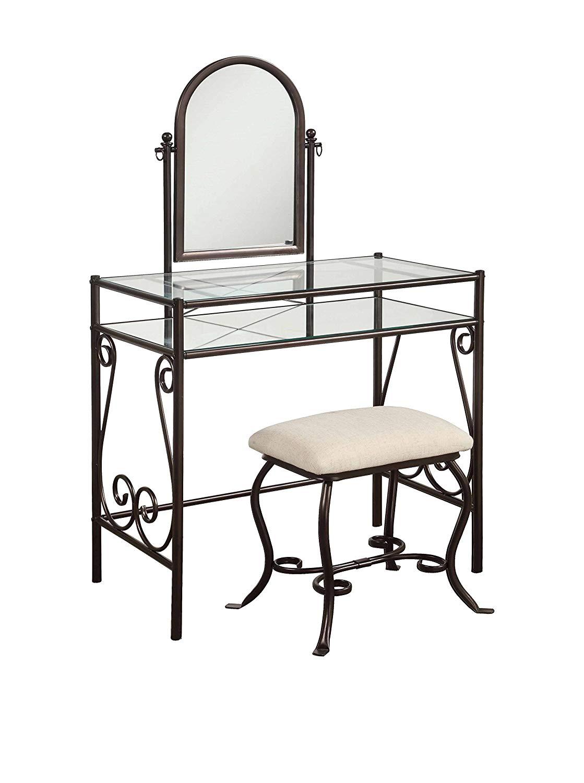 Vanity mirror with desk