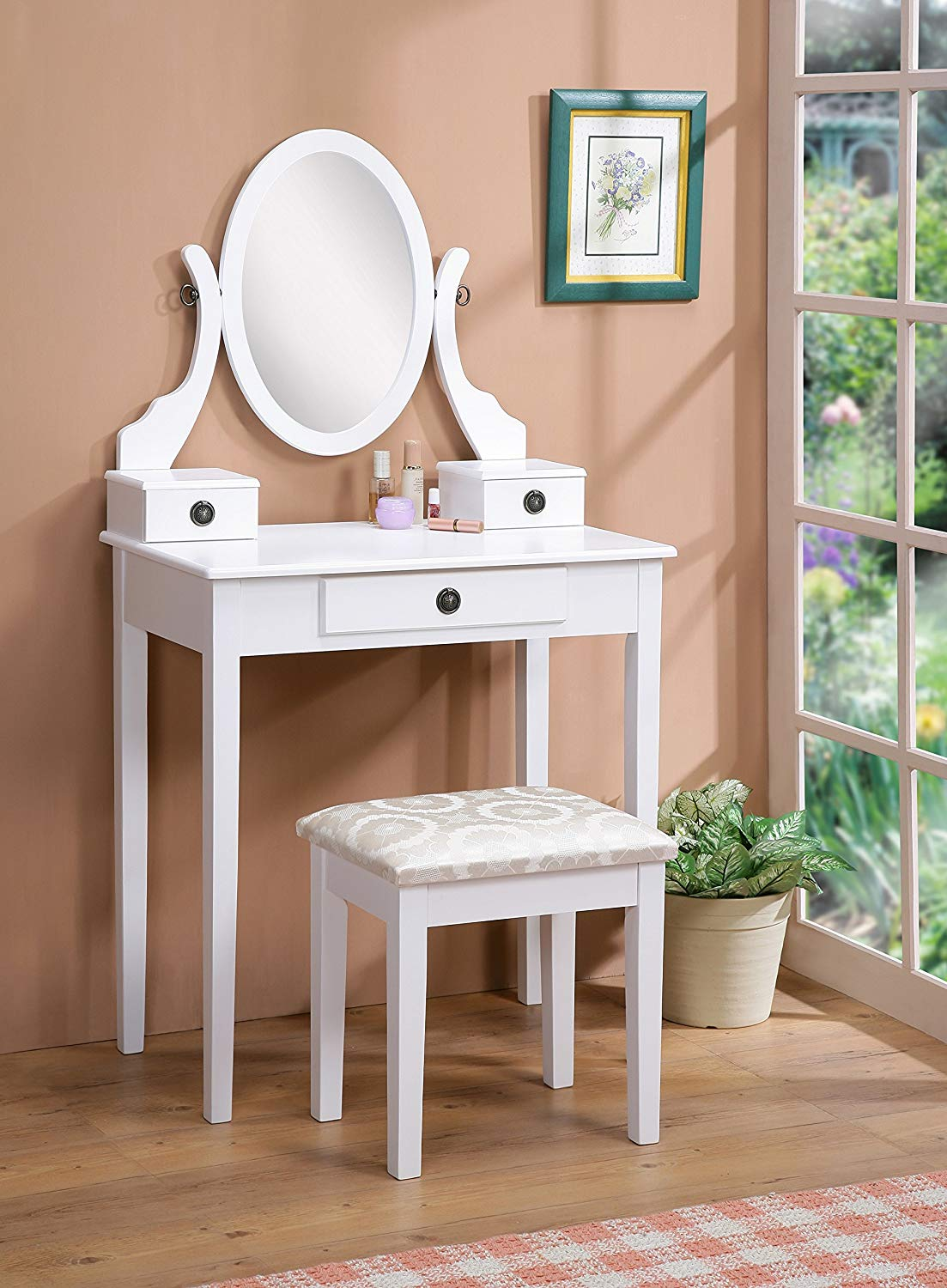 Vanity stool and desk