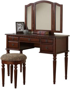 Croix Collection Vanity Set with Stool
