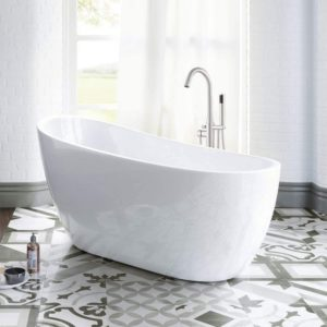 Acrylic Freestanding Bathtub Contemporary Soaking
