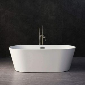 Acrylic Freestanding Bathtub Contemporary Soaking Tub